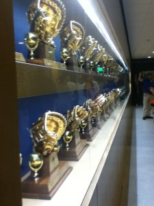 Dodger gold glove display